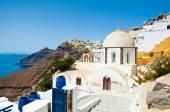Fira Orthodox church on Thera (Santorini), Greece. — Stock Photo