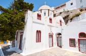 Orthodox church in the capital of Santorini Fira. Greece. — Stock Photo