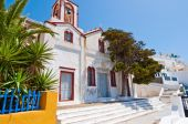 Orthodox church in the capital of Thera also known as Santorini, Fira, Greece. — Stock fotografie