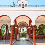 CRETE,HERAKLION-JULY 25: Monastery of Panagia Kalyviani arched courtyard on July 25 on the Crete island, Greece. The Monastery of Panagia Kalyviani is located 60km south of Heraklion. — Stock Photo #54815683