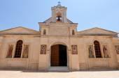CRETE,HERAKLION-JULY 25: Facade of the Monastery of Panagia Kalyviani on July 25 on the Crete island, Greece. The Monastery of Panagia Kalyviani is located 60km south of Heraklion. — Stock Photo