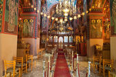 CRETE,HERAKLION-JULY 25: Interior of the Monastery of Panagia Kalyviani on July 25 in Heraklion on the Crete island, Greece. The Monastery of Panagia Kalyviani is located 60km south of Heraklion. — Stock Photo