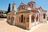 CRETE,HERAKLION-JULY 25: Monastery of Panagia Kalyviani next to Mires and Kalyvia villages on July 25 on Crete island, Greece. The Monastery of Panagia Kalyviani is located 60km south of Heraklion. — Stock Photo
