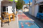 MATALA,CRETE-JULY 22: Matala village on July 22,2014 on the island of Crete, Greece. Matala is a village located 75 km south-west of Heraklion, Crete. — Zdjęcie stockowe