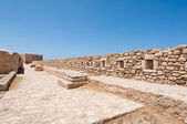 The wall of the Fortezza on Crete, Rethymnon city. Greece. — Stok fotoğraf