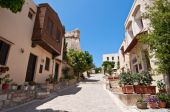 The old town in Rethymno city on Crete, Greece. — Stok fotoğraf