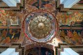 Dome painting in the Agios Minas Cathedral in Heraklion on the Crete island, Greece. — Stock Photo