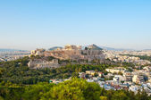 Panoramic view of Acropolis of Athens from Filopappos Hill. Greece. — Stock Photo