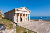 The west facade of the Church of St. George at the Old Fortress on the Corfu island, Greece. — Photo