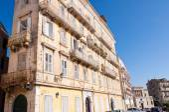 CORFU-AUGUST 22: Venetian building in Corfu town on August 22, 2014 on Corfu island. Greece. — Stock Photo