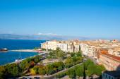 CORFU-AUGUST 22: Aerial view of Corfu city from the New Fortress on August 22, 2014 on Corfu island, Greece. — 图库照片