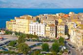 CORFU-AUGUST 22: Corfu cityscape with the Venetian quarter, from the New Fortress on August 22, 2014 on Corfu island, Greece. — Photo