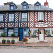 NORMANDY,FRANCE-JANUARY 8: Beuvron-en-Auge architecture on January 8,2013, France. — Stock Photo #61621965