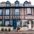 NORMANDY,FRANCE-JANUARY 8: Beuvron-en-Auge architecture on January 8,2013, France. — Stock Photo #61621981