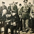 Постер, плакат: NEWFOUNDLAND AUGUST 11: President Franklin D Roosevelt and Sir Winston Churchill at the Atlantic Conference on August 11 1941 in Placentia Bay Newfoundland