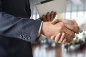 Business handshaking Business handshaking — Stock Photo