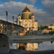 Cathedral of Christ the Saviour near Moskva river, Moscow. Russi — Stock Photo #54124691