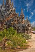 Sanctuary of Truth, Pattaya, Thailand. — Stock Photo