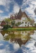 Replica of Dusit Maha Prasat Palace, Ancient Cityf Bangkok — Stock Photo