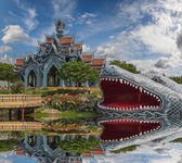 Sumeru Mountain Palace, Ancient Cityf Bangkok — Stock Photo