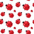 Seamless pattern with ladybug isolated on white. Vector EPS 10. — Stock Vector #58218937