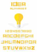 Idea alphabet. Vector EPS10. — Vettoriale Stock