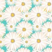 весенний бесшовный фон с цветами ромашки. вектор eps10. — Cтоковый вектор