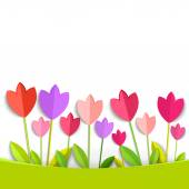 Coloring 3d tulips isolated on white. Vector EPS 10. — Stock Vector