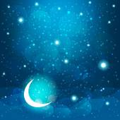 Cartoon stars in the night sky. Vector EPS10. — Stock Vector
