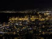 Mount Carmel-Haifa night view — Stock Photo