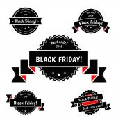 Black Friday Sale vector elements — Stock Vector