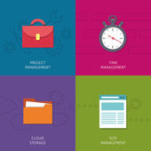 Office management icons set — Stock Vector