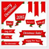 Christmas ribbons — Stock Vector