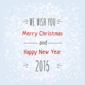Christmas typography — Stock Vector