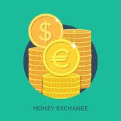 Money exchange — Stock Vector