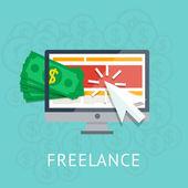 Freelance icon — Stock Vector