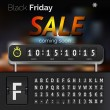 Black Friday sale countdown timer — Stock Vector #58276189