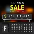 Black Friday sale countdown timer — Stock Vector #58276269
