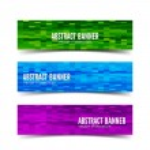 Three abstract vector banner — Stock Vector #63380007