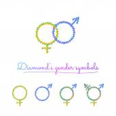 ícones de símbolo de sexo — Vetor de Stock