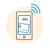 NFC technology concept — Stock Vector