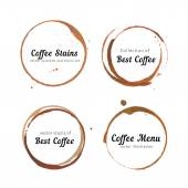 Coffee stain circles for logo — Stock Vector