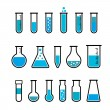 Chemical test tubes icons — Stock Vector #77293812