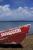Badmeester boot op zand strand — Stockfoto