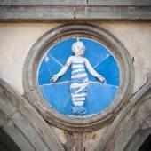 Ceramic tondo by Andrea della Robbia — Stock Photo