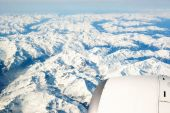 Alps aerial view from plane — Foto Stock