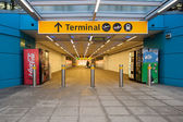 Entrance of Stansted airport — Stock Photo