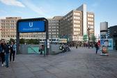 People walking in Alexanderplatz — 图库照片