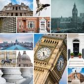 London collage of different images — Stock Photo