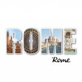 Rome collage of different famous locations — Stock Photo